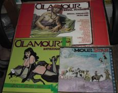 Glamour 3x magazines - in English, French and Italian languages