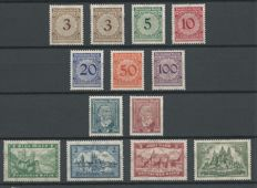 German Empire 1923/1924 - Selection - Michel 338/343, 362/363, 364/367