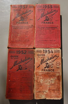 Guide Michelin - 4 volumes - 1952 / 1957