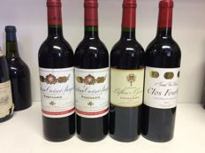 2001 Chateau Croizet-Bages Grand Cru Classe, Pauillac x 2 bottles - 2007 Chateau Lafleur-Gazin, Pomerol x 1 bottle - 2012 Clos Fourtet 1er Grand Cru Classe, Saint-Emilion x 1 bottle /  France , 4 bottles 0,75l