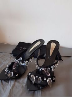 Giuseppe Zanotti design - Vicini sandals with true Swarovski - No reserve price