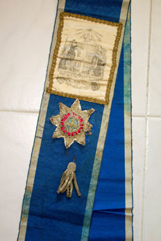 "19th/20th century, Antique English Ceremonial Sash, ""The Order of Oddfellows"""