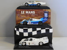 Minichamps - Scale 1/43 - Lot with 3 x Porsche: 906 L, 956 & 962