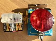 NOS; reversing light and rear fog light Approx. 50 years old!