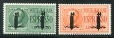 Italian Social Republic, 1944 – 'Saggi' series express stamps, 2 values