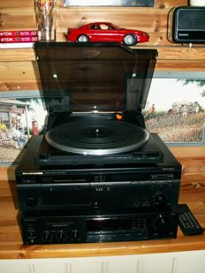 Good hi-fi basic set: SONY tuner/amplifier. STR-AV220; MARANTZ tape deck SD-46 and turntable TT173.