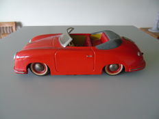 Distler, Western Germany - Length: 25 cm - metal Electromatic 7500 Porsche 356 A with battery, 1950 s