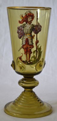 Theresienthal or Fritz Heckert - glass goblet