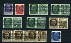 Zara – 1943 – German Occupation, overstamped – Sassone no. 24/34