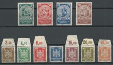 German Reich 1924 - Emergency aid and Imperial eagle - Michel 351/354 + 355/361