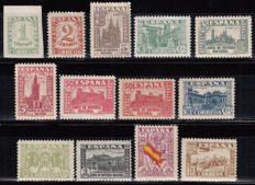 Spain 1936/1938 – Ministry of National Defence, complete series – Edifil 802/813, 808A.