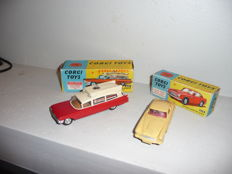 Corgi - Scale 1/43 - Ambulance on Cadillac chassis - No.437 & Aston Martin DB 4 - No.218