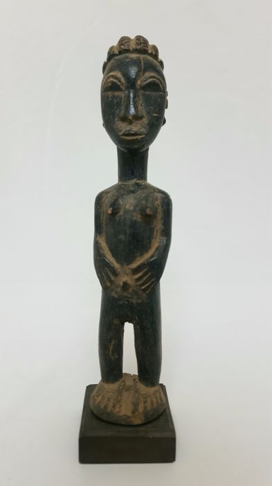 African ancestral statue - BAULE - Ivory Coast