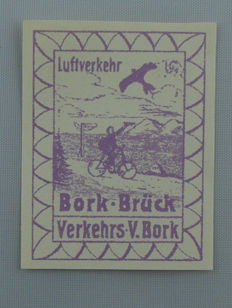 German Reich 1912 – semi-official airmail stamp, Michel 3