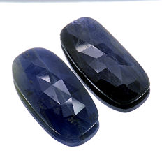 Blue Sapphire – 25.40 ct (12.55 ct + 12.85 ct) – No Reserve Price