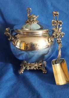 Silver Italian sugar bowl, early 1900