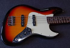 New SX 4-string Jazzbass bass guitar, 3Tone Sunburst Vintage Series