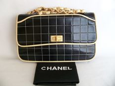 "Chanel - 2.55 single Large flap hand bag, model featured in ""Sex and the City"""