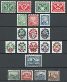 German Empire 1925/1932 - Selection with Emergency Aid among others