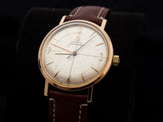 Omega Seamaster 18 kt gold men's wristwatch, 1961.