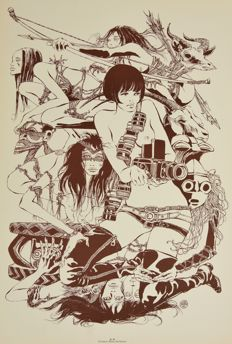 "Crepax, Guido - advertising poster ""Valentina"" (1970s)"