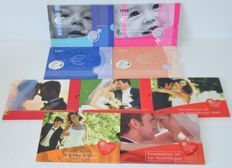"The Netherlands – year sets 2004-2009, ""birth sets and marriage sets"" (nine different ones)"