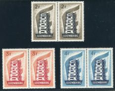 Luxemburg 1956 - EUROPA in pairs - Michel 555/57 x 2