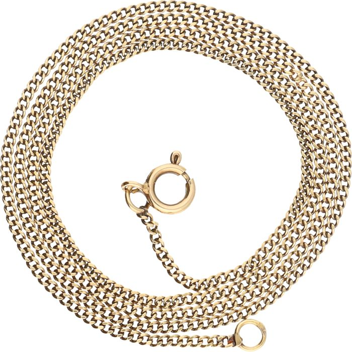 14 kt – Yellow gold curb link necklace – Length: