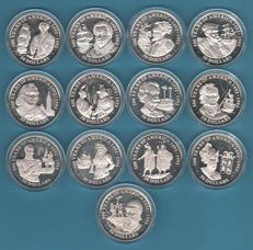 Cook Islands – 50 Dollars 1990/1991 '500 years from the discovery of America' (13 coins) - 13 x 1 oz silver