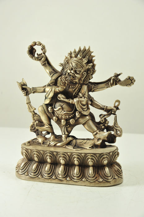 Bronze Dharmapala Yama Statue - China - late 20th century