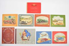 Picture albums; lot with 9 bilingual albums issued by Chocolade Jacques - 1938/1952