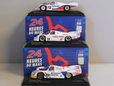 Minichamps - Scale 1/43 - Lot with 3 x Porsche 956L 24h Le Mans 1986k