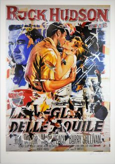 Mimmo Rotella - La Veglia delle Aquile (A Gathering of Eagless)