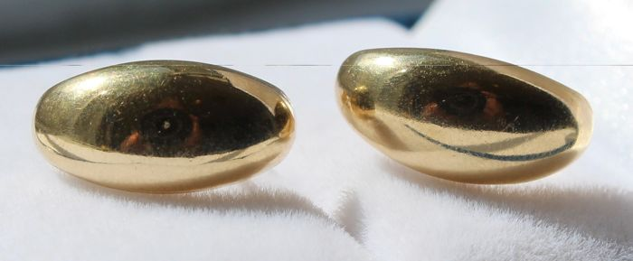 14 kt Gold earrings, size: 7 x 14 mm