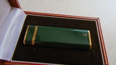 Cartier, green Chinese lacquer and gold.