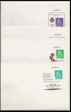Spain 1985–2000 – Lot with 84 envelopes, postal stationery – Edifil No. 1–59
