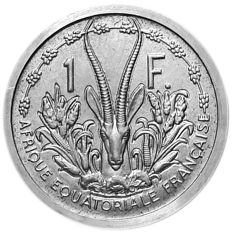 French Equatorial Africa (colony) - 1 Franc 1948 Essai Piefort - Aluminium