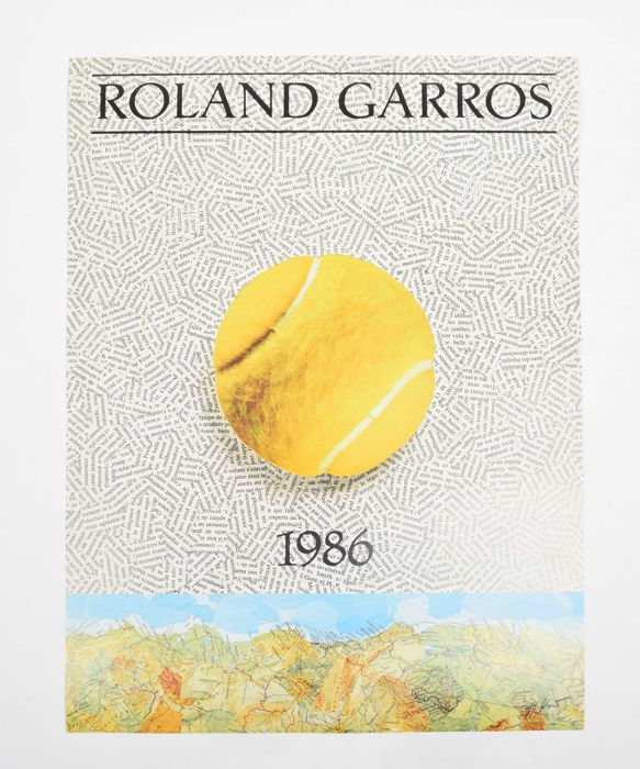 Tennis/France/Roland Garros - Original poster for grand slam tournament Roland Garros - 1986