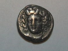 Antique Greece - Thessalia - Larissa - Tri Hemiobol AR (circa 356-337 BC).