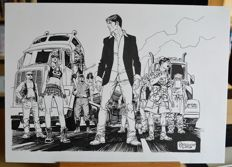Brindisi, Bruno - Original illustration for Dylan Dog (2010)