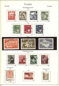 Croatia - 1941 - 45 - complete collection with anniversary edition, Michel 24-38, assault division set & block, Michel 170-172, block 8