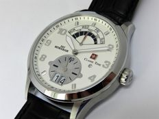 Classic Time Day Retrograde Swiss made Men's  quartz watch New