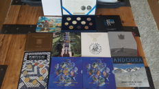 Europe - collection of Euro coin sets (13 different ones)