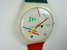 Swatch – wall clock in the shape of a very large watch (210 cm)