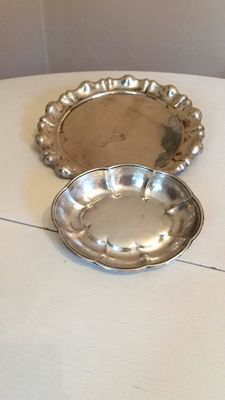 Two silver dishes, Austria-Hungary