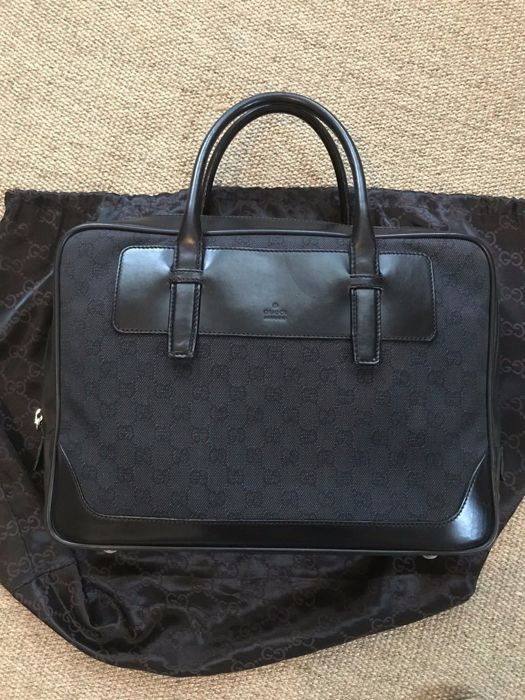Gucci - business briefcase with double handles - Catawiki df02e29b35