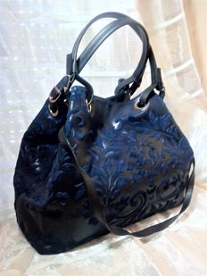 Large women's bag in 100% leather – Lotus flower – Florence