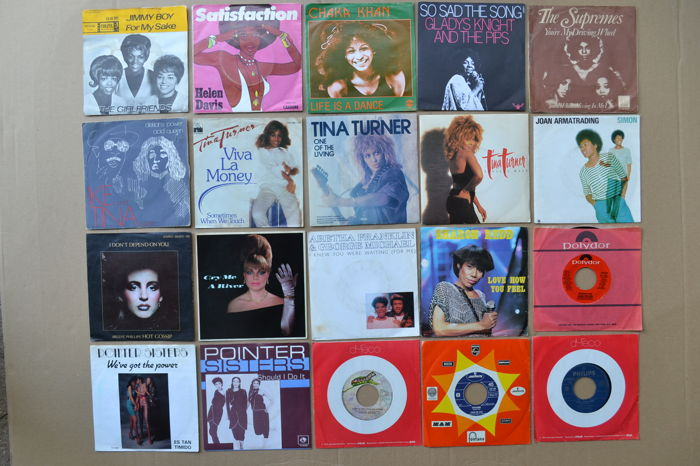 nice lot of 20 soul/dance/funk singles from the 70's & 80's by USA & UK female singers