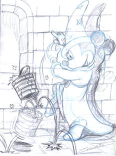 Vendetta, Z. - Original Sketch - Mickey Mouse - The Sorcerer's Apprentice
