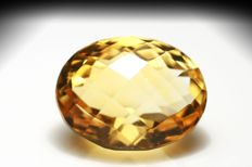 Greenish-yellow Citrine – 11.26 carats